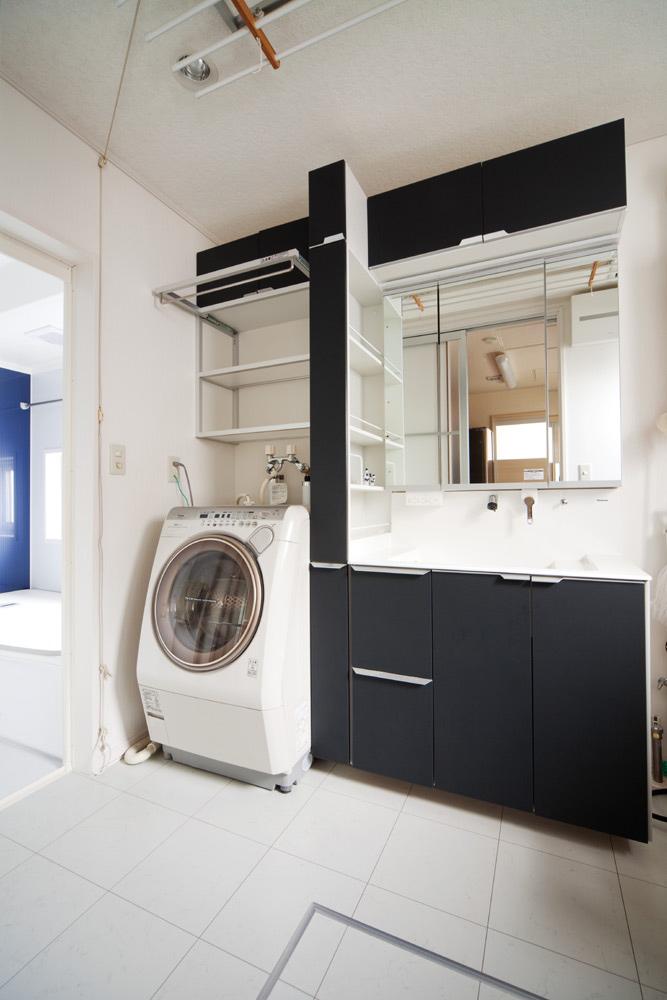 洗面所と洗濯機